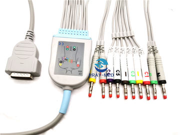 Cina GE Marqutte MAC1000 Kabel Ge Ecg, Jaket TPU Reliable Ge Ecg Lead Wires pabrik